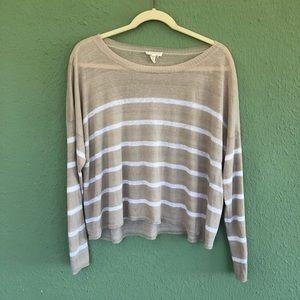 Eileen Fisher Women's Stripe Linen Blend Top L